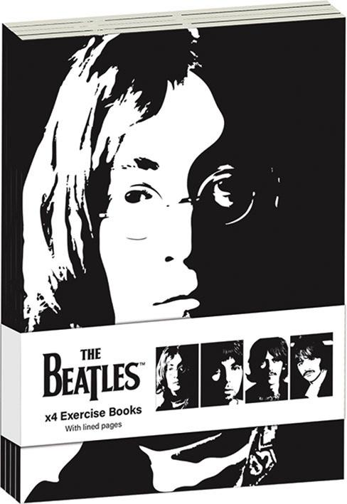 THE BEATLES - Pack 4 x Exercise Books A6 - Revolver