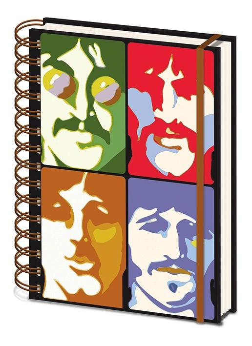 THE BEATLES - Notebook A5 - Yellow Submarine Faces