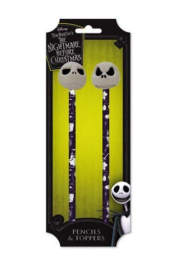NIGHTMARE BEFORE CHRISTMAS - Pencils & Toppers Set - Jack