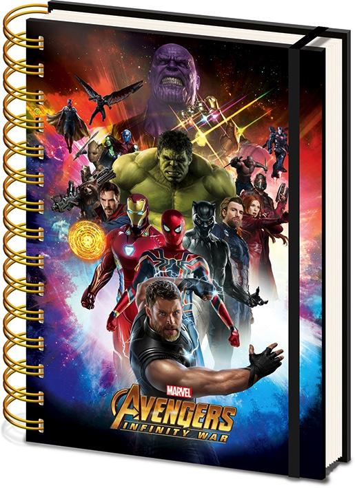 AVENGERS INFINITY WAR - Lenticular Notebook A5 - Space Montage