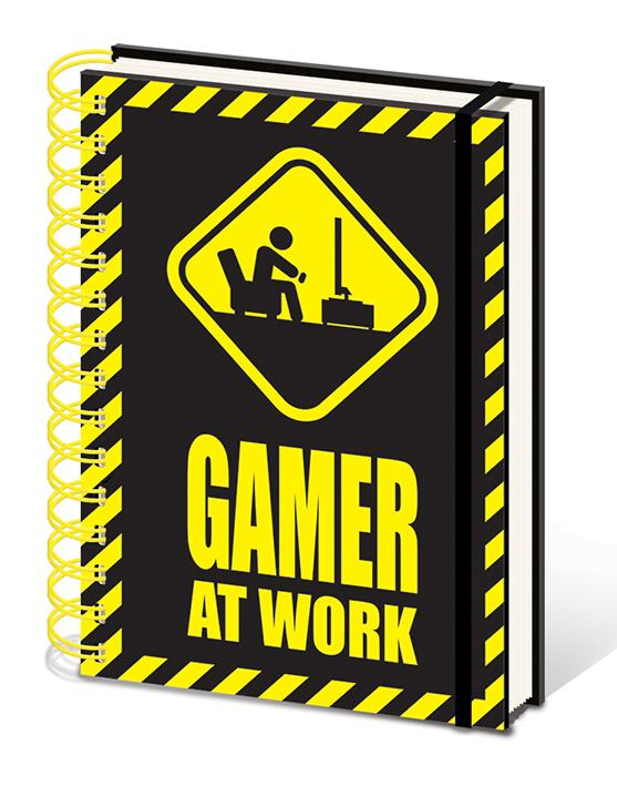 GAMING - Notebook A5 - Gamer at Work