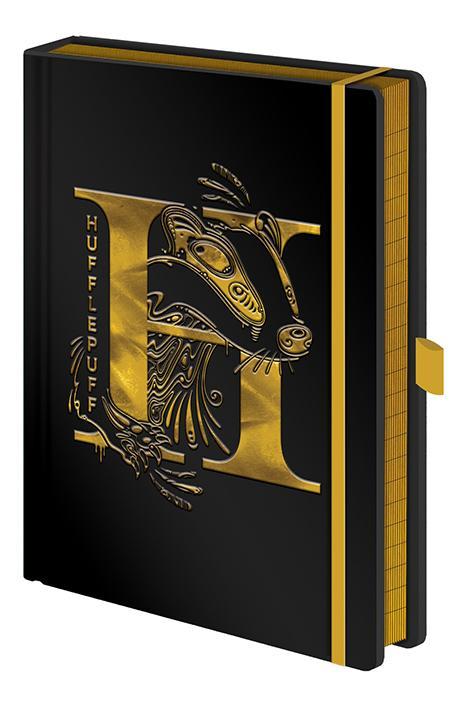 HARRY POTTER - Notebook A5 Premium - Hufflepuff Foil