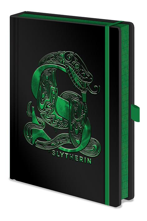 HARRY POTTER - Notebook A5 Premium - Slytherin Foil