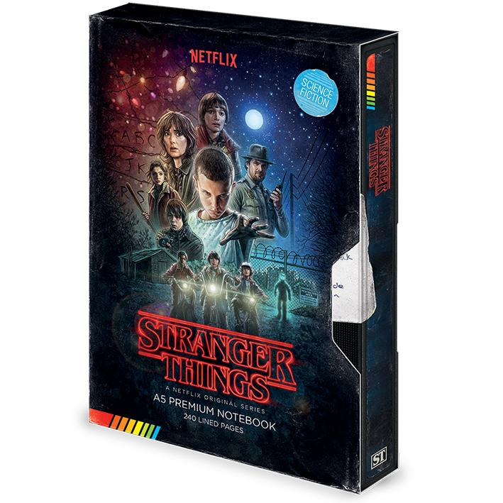 STRANGER THINGS - VHS - Notebook A5 Premium_1