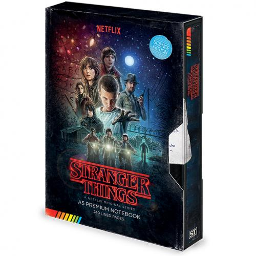 STRANGER THINGS - VHS - Notebook A5 Premium