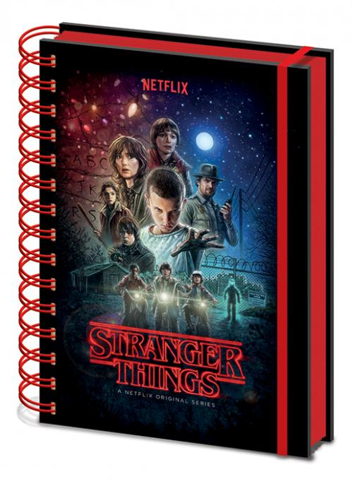 STRANGER THINGS - One Sheet - Notebook A5