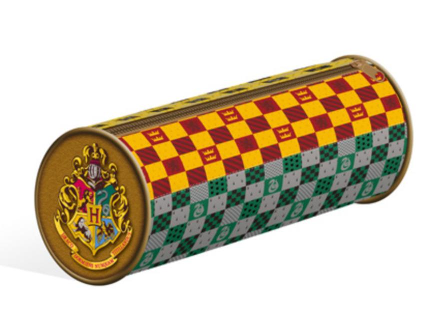 HARRY POTTER - Barrel Pencil Case - House Crests