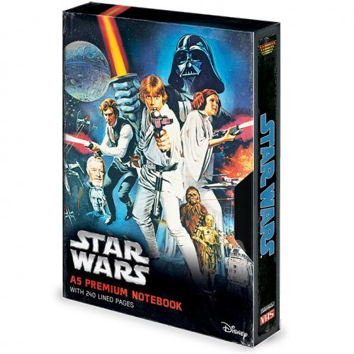 STAR WARS - VHS A New Hope - Notebook A5 Premium