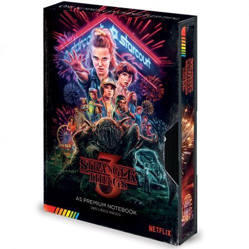 STRANGER THINGS - Notebook A5 Premium - VHS Season 3