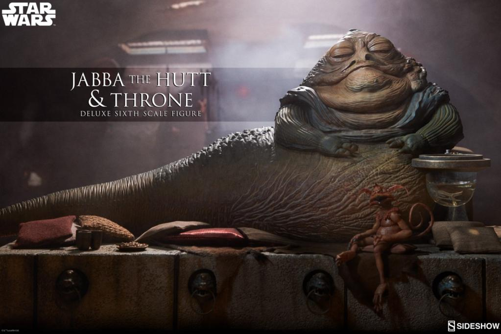 STAR WARS - Jabba the Hutt and Throne Deluxe 1:6 Scale Figure