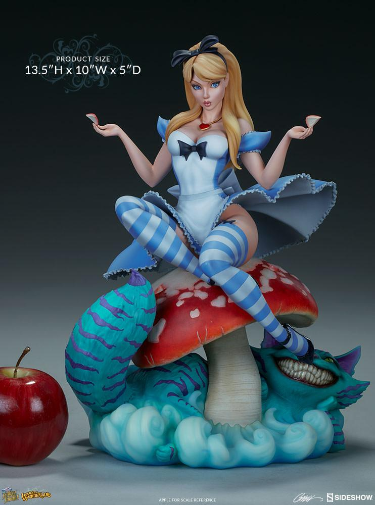 FAIRYTALE FANTASIES COLLECTION - Alice in Wonderland Statue - 35cm_3