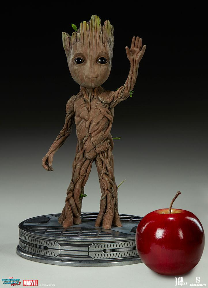 GUARDIANS OF THE GALAXY 2 - Baby Groot Life Size Maquette - 28cm