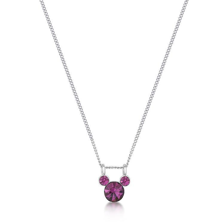 DISNEY MICKEY MOUSE - Birthstone Necklace - February