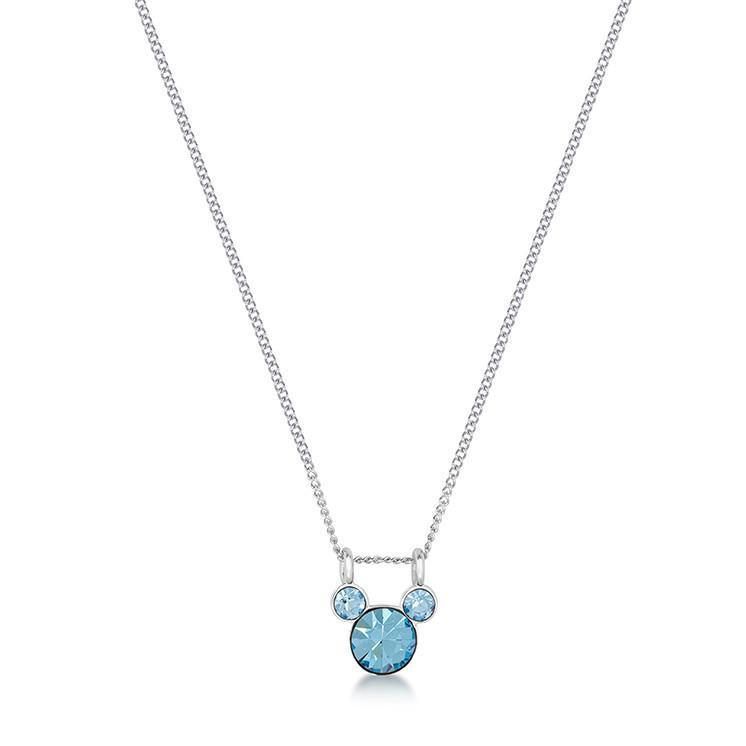 DISNEY MICKEY MOUSE - Birthstone Necklace - March
