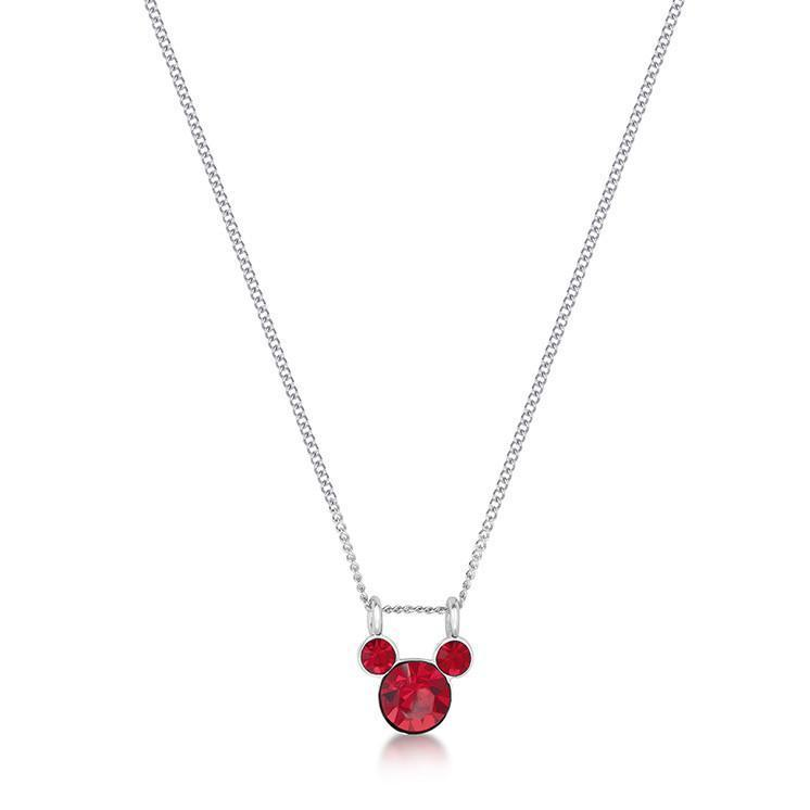 DISNEY MICKEY MOUSE - Birthstone Necklace - July