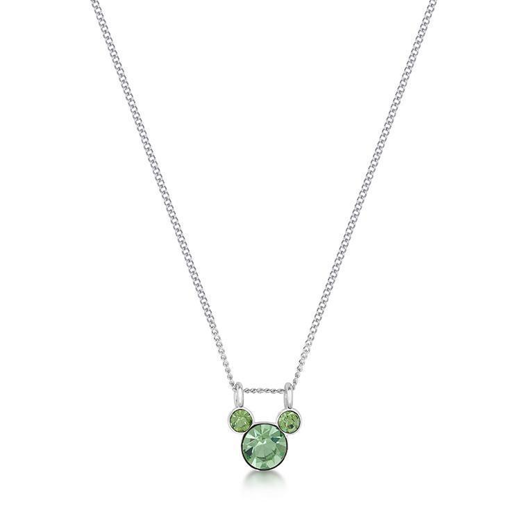 DISNEY MICKEY MOUSE - Birthstone Necklace - August