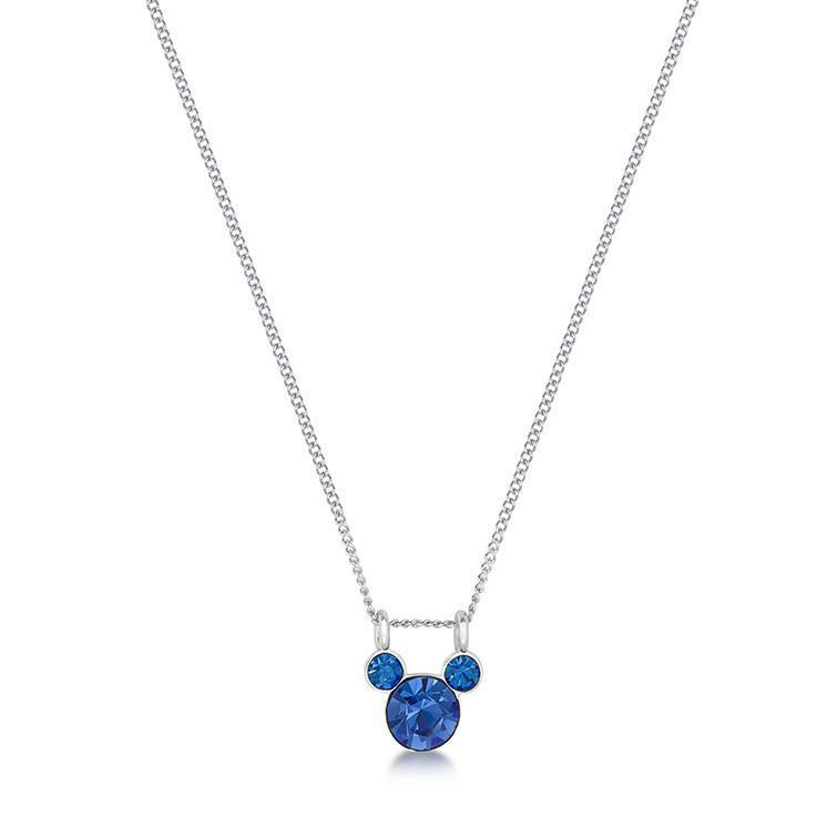 DISNEY MICKEY MOUSE - Birthstone Necklace - September