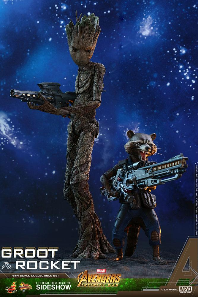 AVENGERS Infinity War - Groot and Rocket 1:6 Scale Figure
