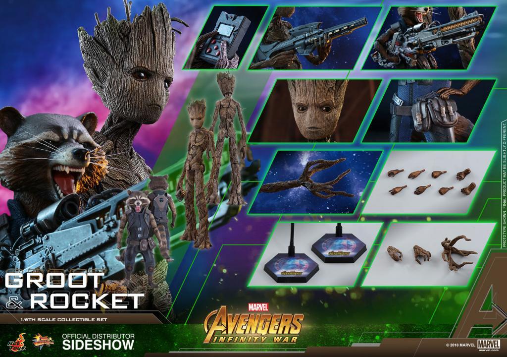 AVENGERS Infinity War - Groot and Rocket 1:6 Scale Figure_2