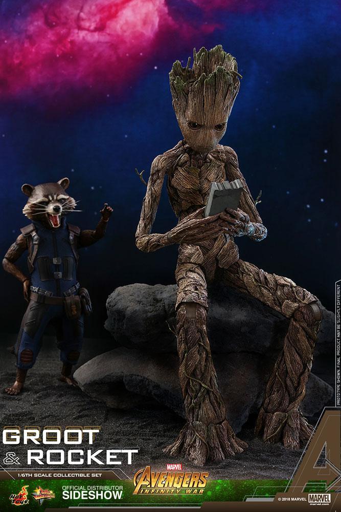AVENGERS Infinity War - Groot and Rocket 1:6 Scale Figure_4
