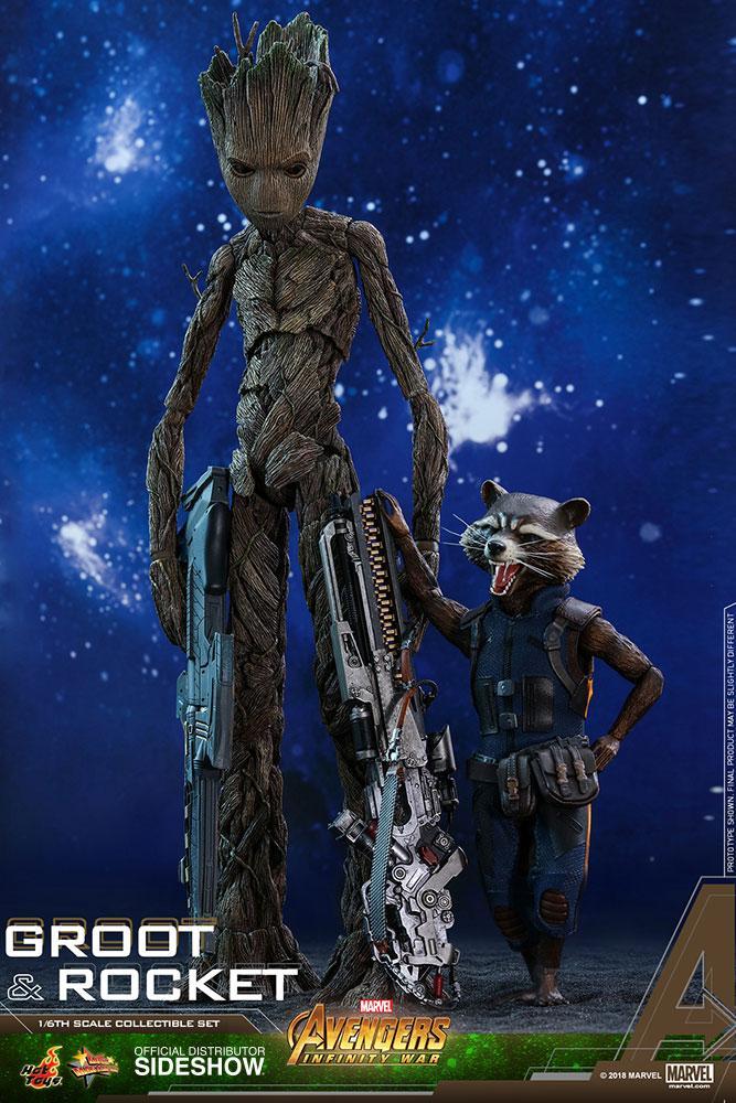 AVENGERS Infinity War - Groot and Rocket 1:6 Scale Figure_5