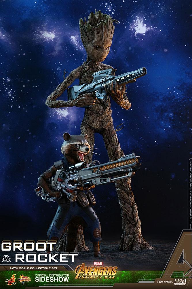 AVENGERS Infinity War - Groot and Rocket 1:6 Scale Figure_6