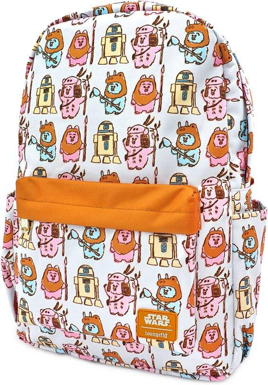 STAR WARS - Pastel Ewok Nylon Backpack 'LoungeFly'