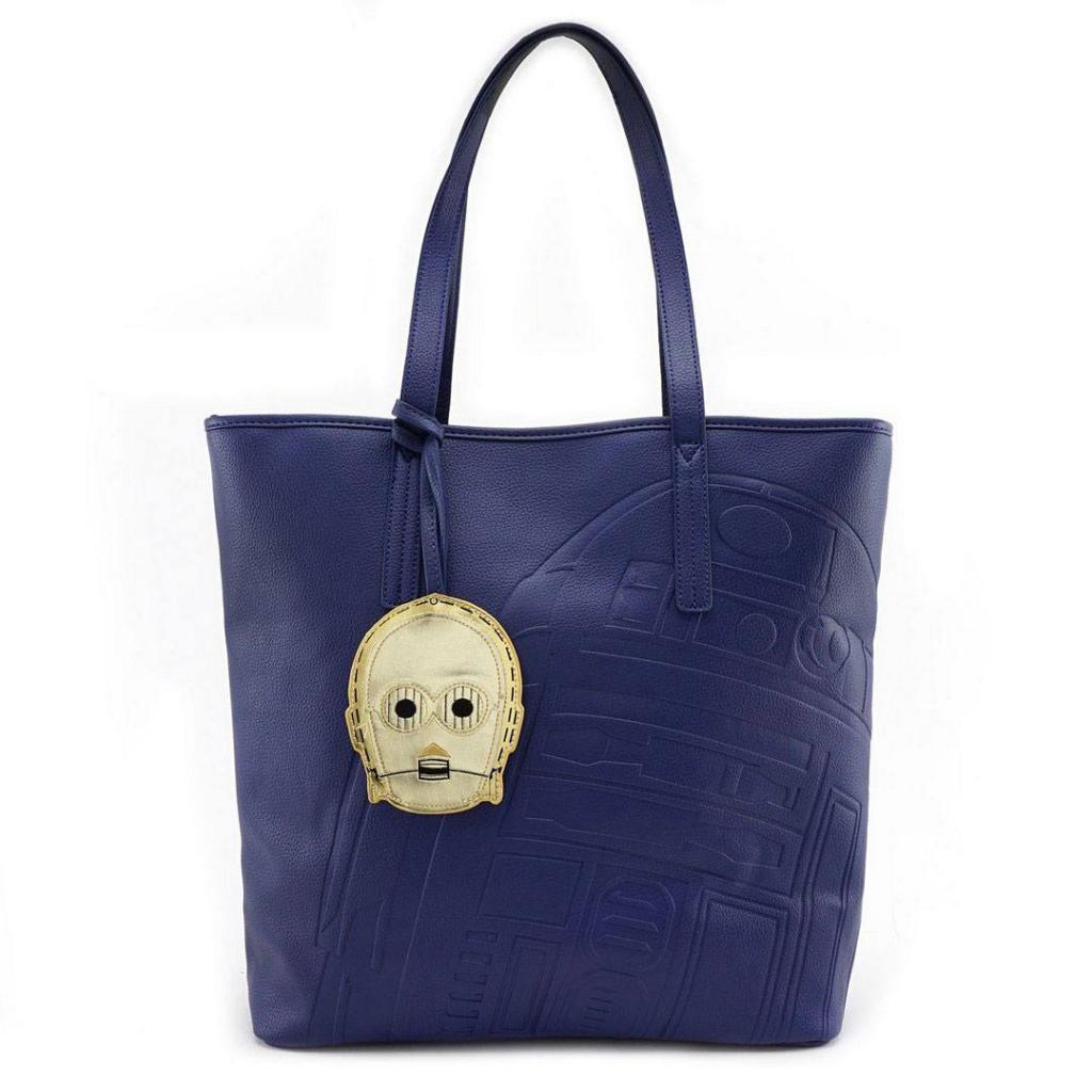 STAR WARS - R2D2 C3PO Tote Bag 'LoungeFly'
