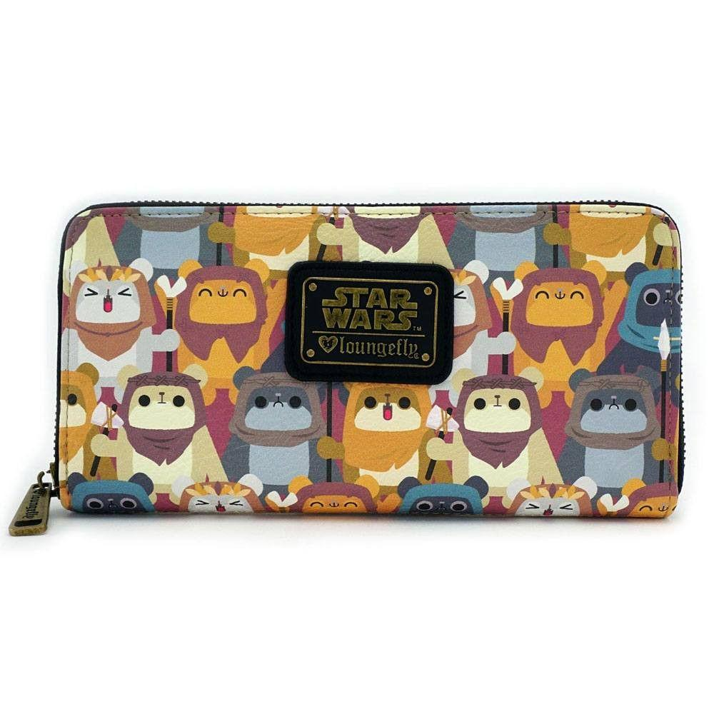 STAR WARS - Ewok AOP Zip Around Wallet 'LoungeFly'