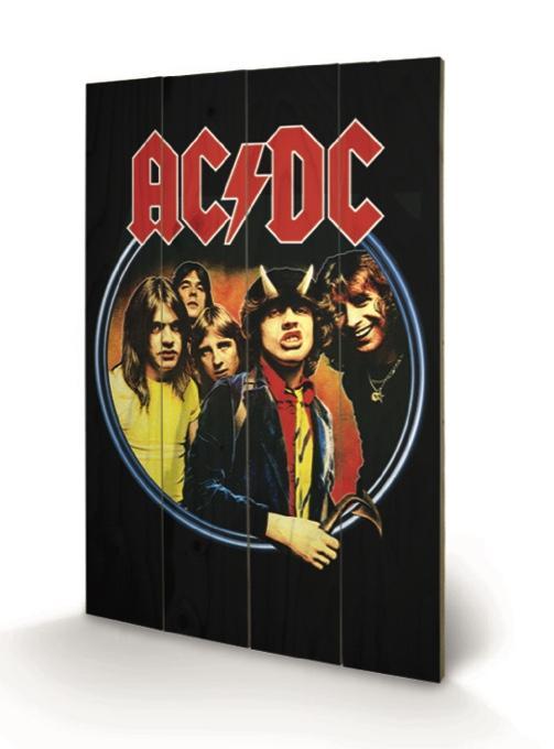 AC/DC - Impression sur Bois 40X59 - Group