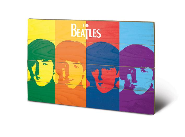 THE BEATLES - Impression sur Bois 40X59 - Pop Art