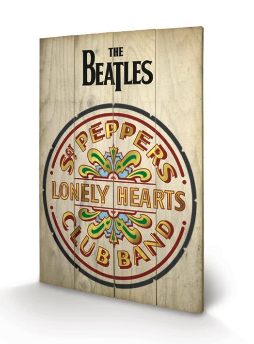 THE BEATLES - Impression sur Bois 40X59 - Sgt Peppers