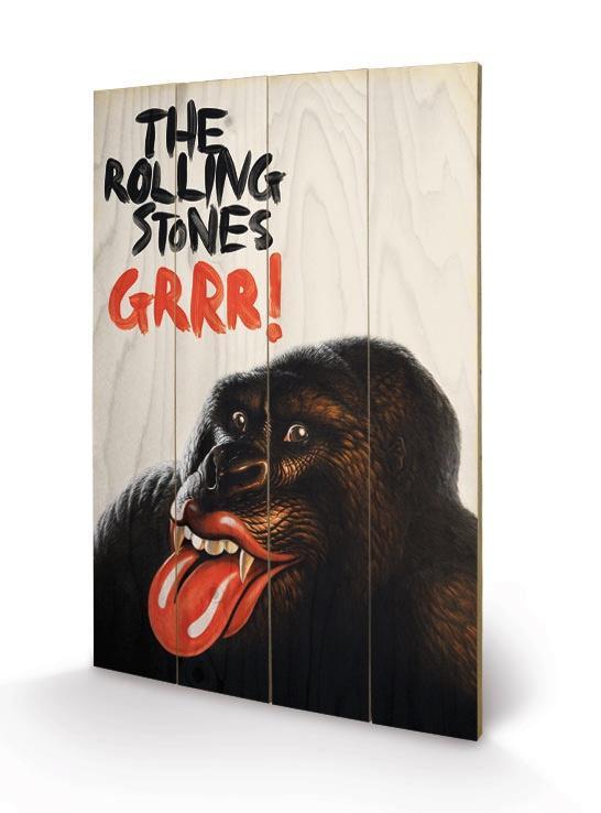 ROLLING STONES - Impression sur Bois 40X59 - Grr!