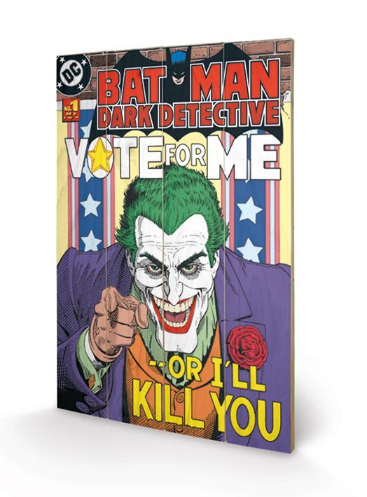 DC COMICS - Impression sur Bois 40X59 - The Joker Vote for Me