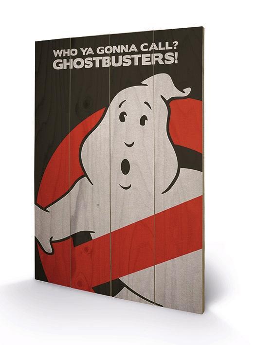 GHOSTBUSTERS - Impression sur Bois 40X59 - Logo
