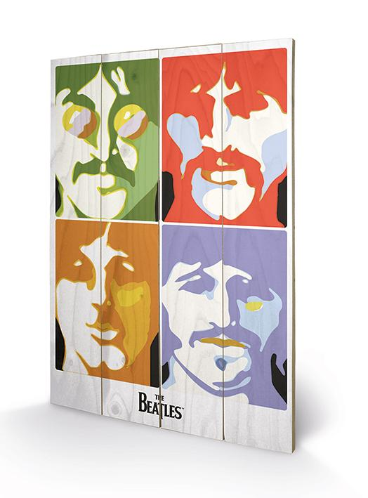 THE BEATLES - Impression sur Bois 40X59 - Sea of Science