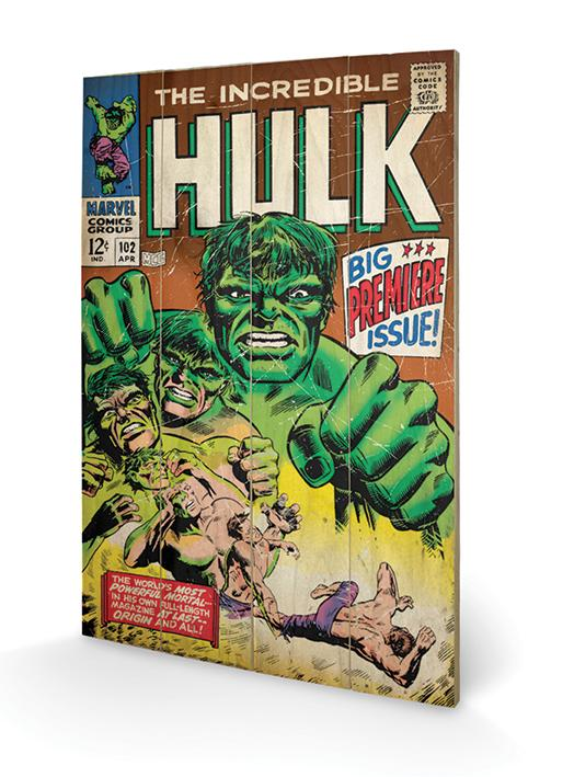 MARVEL - Impression sur Bois 40X59 - Hulk Big Issue
