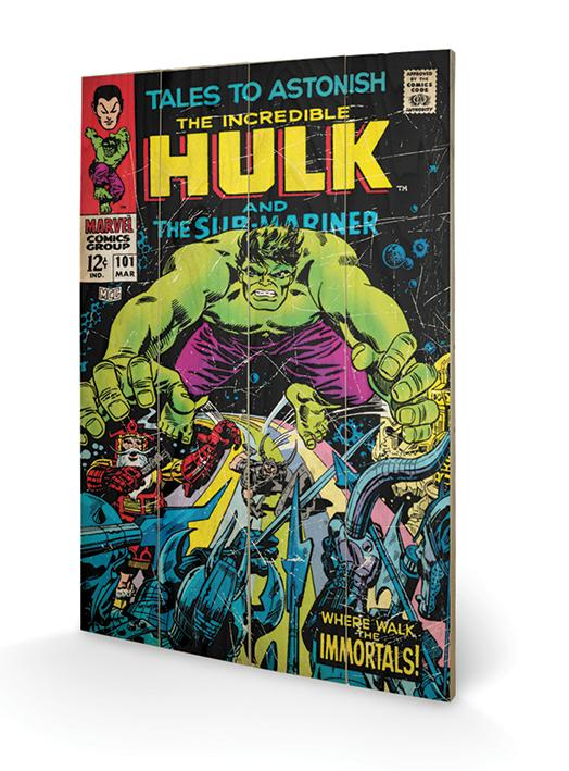 MARVEL - Impression sur Bois 40X59 - Hulk Tales to Astonish
