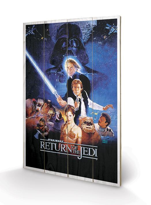STAR WARS - Impression sur Bois 40X59 - Return of the Jedi