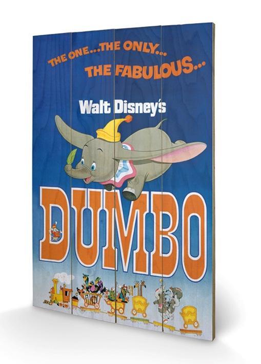 DISNEY - Impression sur Bois 40X59 - Dumbo