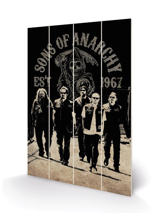 SONS OF ANARCHY - Impression sur Bois 40X59 - Reaper Crew