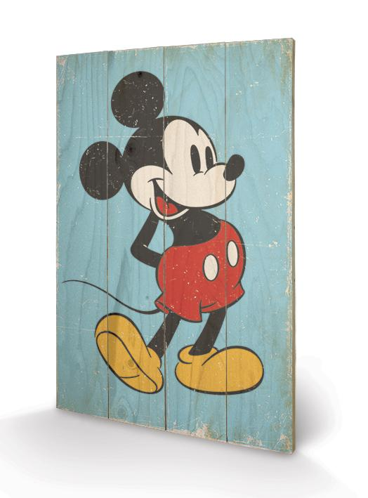 DISNEY - Impression sur Bois 40X59 - Mickey Mouse Retro