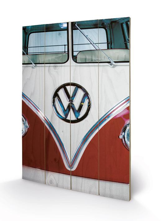 VW - Impression sur Bois 40X59 - Red