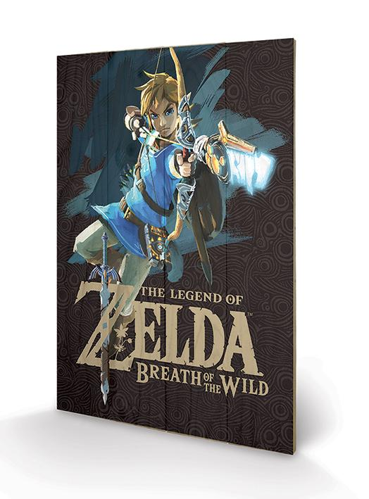 ZELDA BREATH OF THE WILD - Impression sur Bois 40X59 - Game Cover