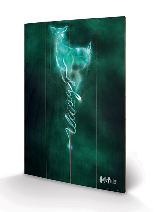 HARRY POTTER - Impression sur Bois 40X59 - Doe Patronus