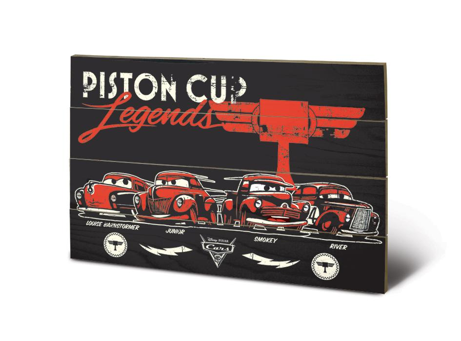 CARS - Impression sur Bois 40X59 - Piston Cup Legend