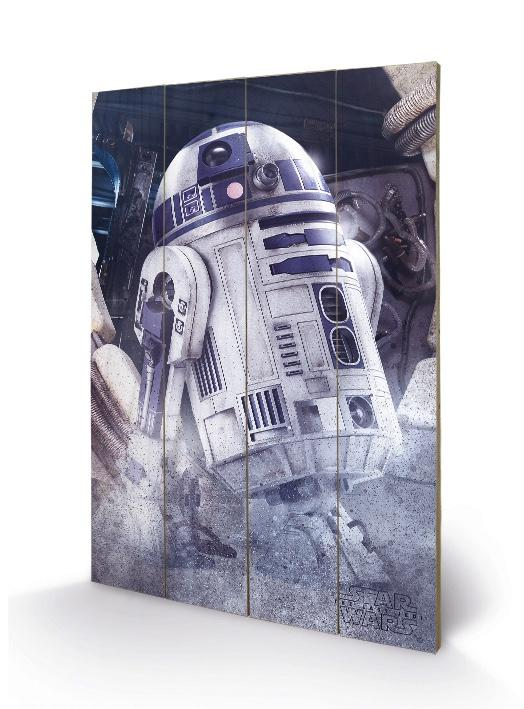 STAR WARS 8 The Last Jedi - Impression sur Bois 40X59 - R2-D2