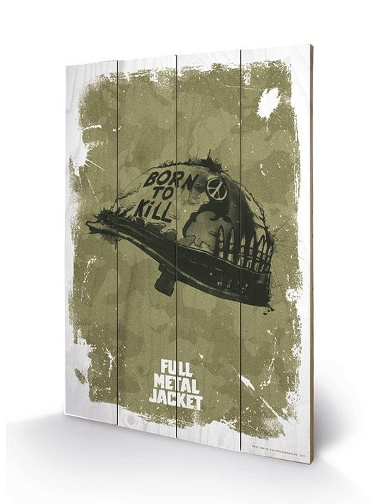 FULL METAL JACKET - Impression sur Bois 40X59 - Helmet