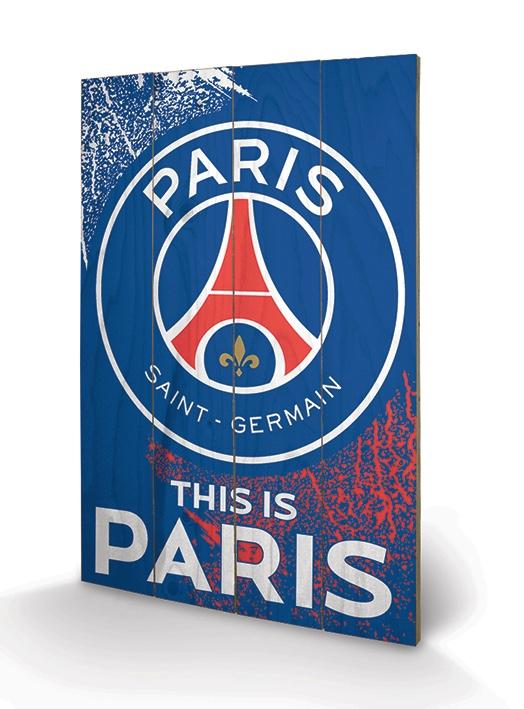 PSG - Impression sur Bois 40X59 - This is Paris