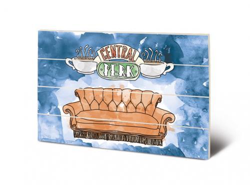 FRIENDS - Impression sur Bois 40X59 - Central Perk Sofa